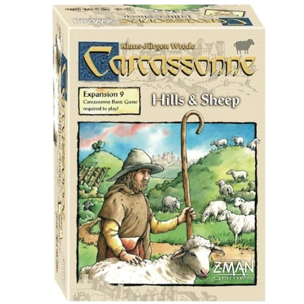 Carcassonne Hills & Sheep Expansion 9 Board Game