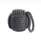 Rope Knot Door Stop | M&W Grey