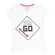 Hasbro - Monopoly Go Men's X-Large T-Shirt - White