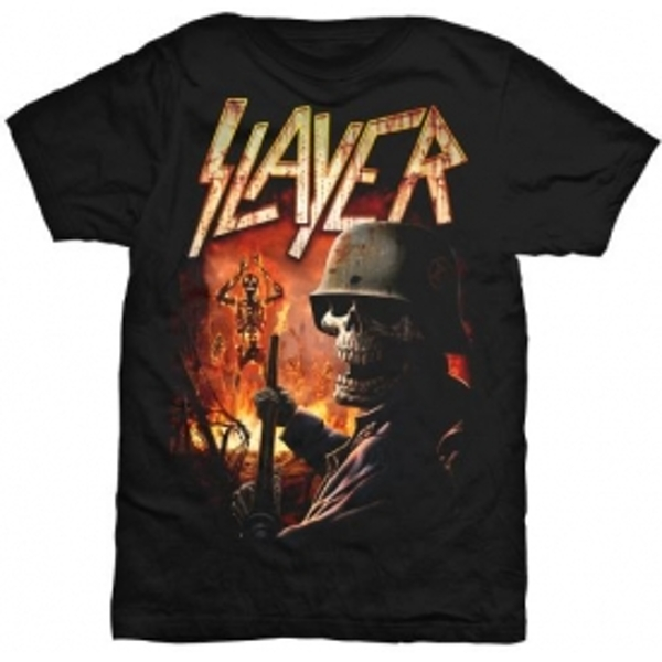 Slayer Torch Mens Black T Shirt: Small