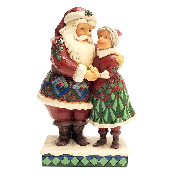 Cutest Christmas Couple - Santa and Mrs Claus Figurine