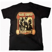 Alice Cooper Elected Band Mens Black T-Shirt: Large