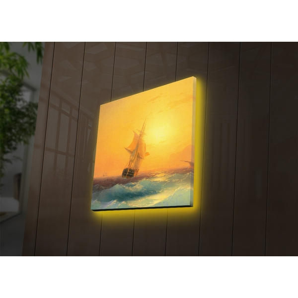 2828DACT-47 Multicolor Decorative Led Lighted Canvas Painting
