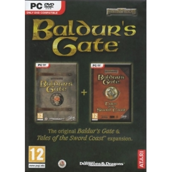 Baldur's Gate and Tales of the Sword Coast Expansion Game PC