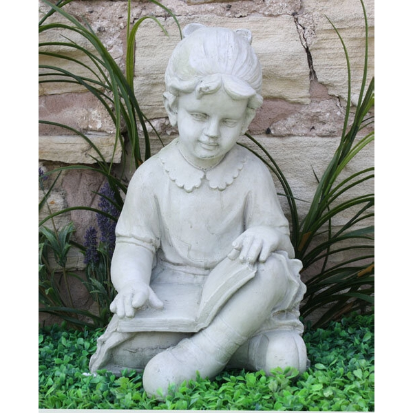Stone Effect Girl Reading