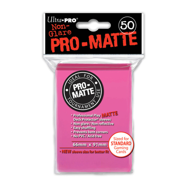 Ultra Pro Standard Deck Protectors (50 Sleeves) - Bright Pink