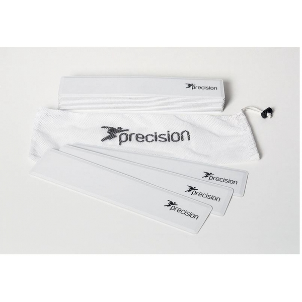 Precision Rectangular Shaped Rubber Markers White (Set of 15)
