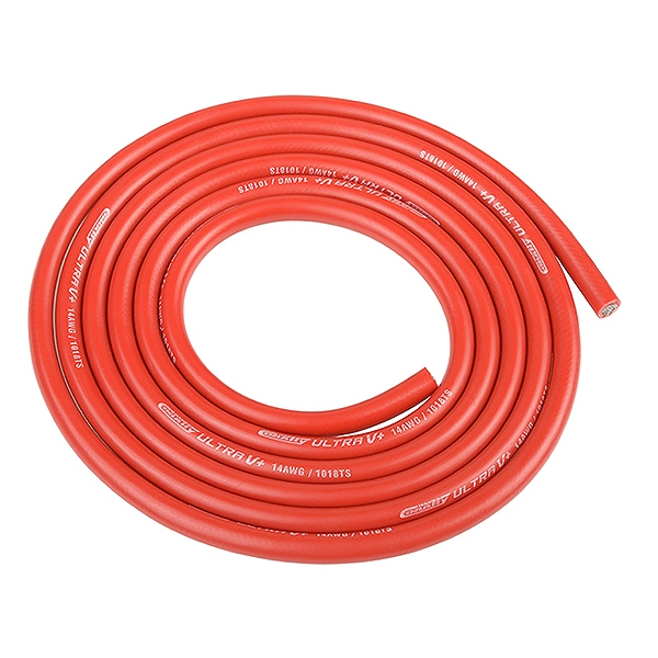 Corally Ultra V+ Silicone Wire Super Flexible Red 14Awg 1018/0.05 Strands Od3.5Mm 1M