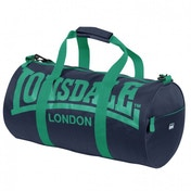 Lonsdale Barrel Bag Navy & Green
