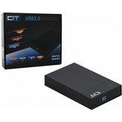 CiT 3.5-Inch USB 3.0 Sata HDD Tooless Enclosure Black