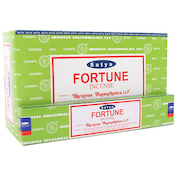Box of 12 Packs of Fortune Incense Sticks by Satya