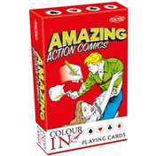 Colour-in Action Comic playing Cards