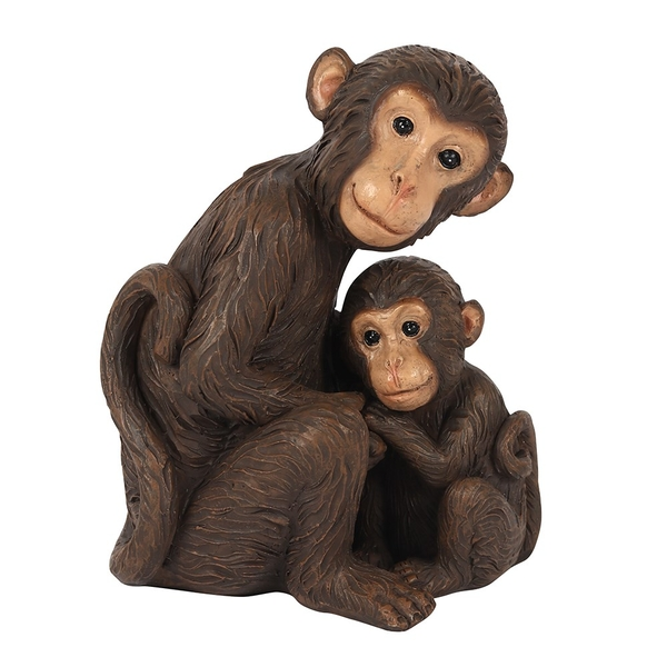 Monkey Mother and Baby Ornament