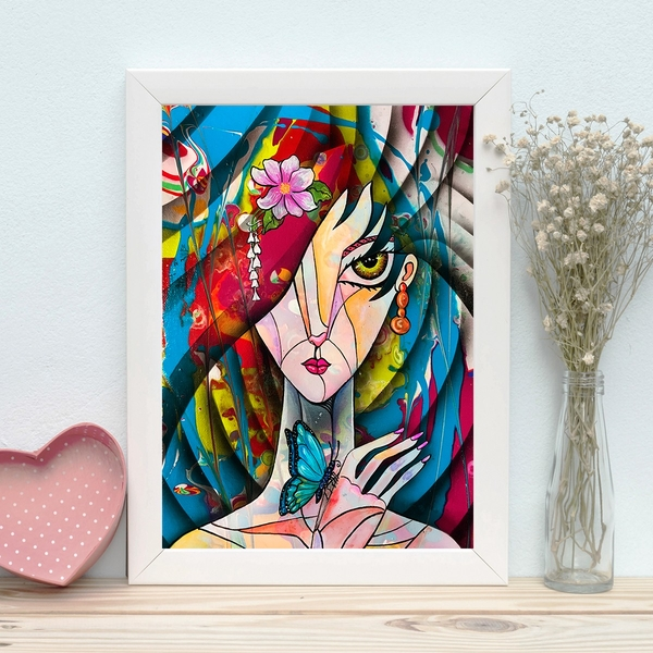BC1548365255 Multicolor Decorative Framed MDF Painting