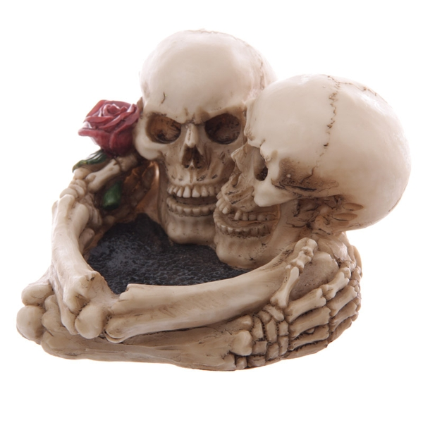 Fantasy Skull Lovers Ashtray