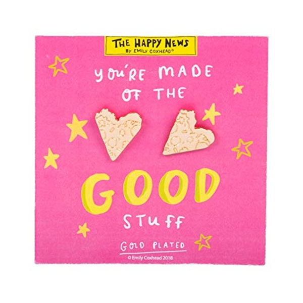 Gold Look Earrings - Made Of The Good Stuff (Pack of 4)