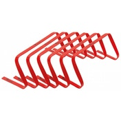 Precision 9inch High Flat Hurdles Set Red ( Set of 6 )