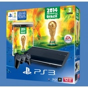 12GB SUPER SLIM Console System Black PS3 with FIFA World Cup Brazil 2014