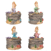 Mermaid Trinket Box Pack Of 4