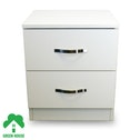 2 Chest Of Drawers White Bedside Cabinet Dressing Table Bedroom Furniture Wooden Green House