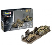 Char B.1 bis & Renault FT.17 1:76 Revell Model Kit