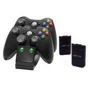 Venom Twin Charging Cradle Black Docking Station Xbox 360