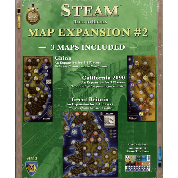 Image of Steam Rails to Riches Map Expansion 2 Board Game