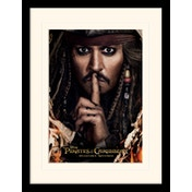 Pirates of the Caribbean - Can You Keep A Secret Mounted & Framed 30 x 40cm Print