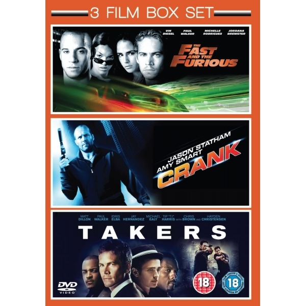 3 Film Box Set Takers / Crank / The Fast & The Furious DVD