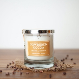 Powdered Cacao (Pastel Collection) Glass Candle