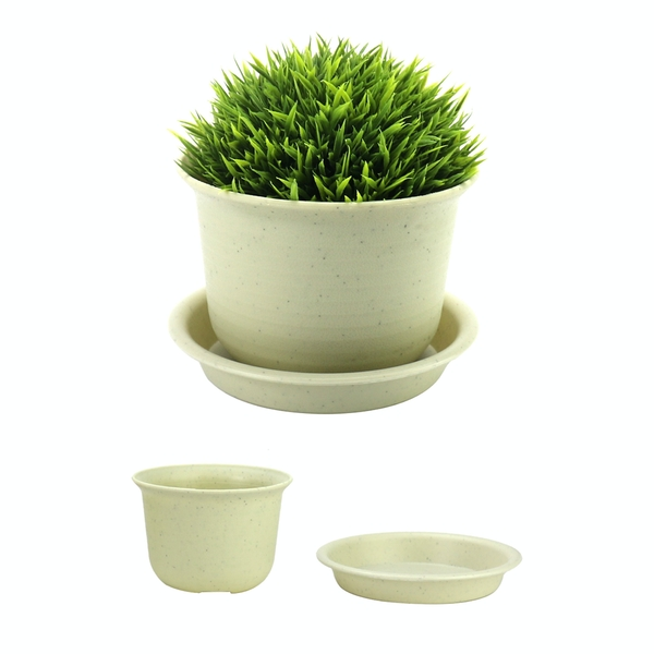 Plastic Plant Pots - Set of 10 | Pukkr Small