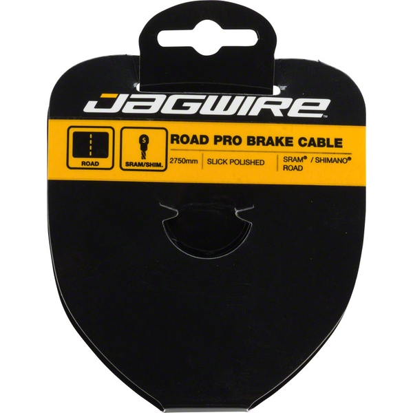 Jagwire Road Pro Brake Inner Pear Cables Pro Polished Slick Stainless Stainless 2750mm SRAM/Shimano Workshop Filebox