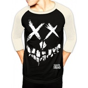 Suicide Squad - Skull Bs Men's Large Baseball T-Shirt - Black