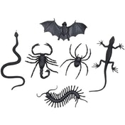 Scary Animals Decoration (Pack Of 6)