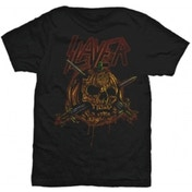 Slayer Skull Pumpkin Men's Black T Shirt: Small