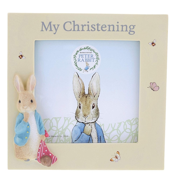 Peter Rabbit Christening Photo Frame - Image 1