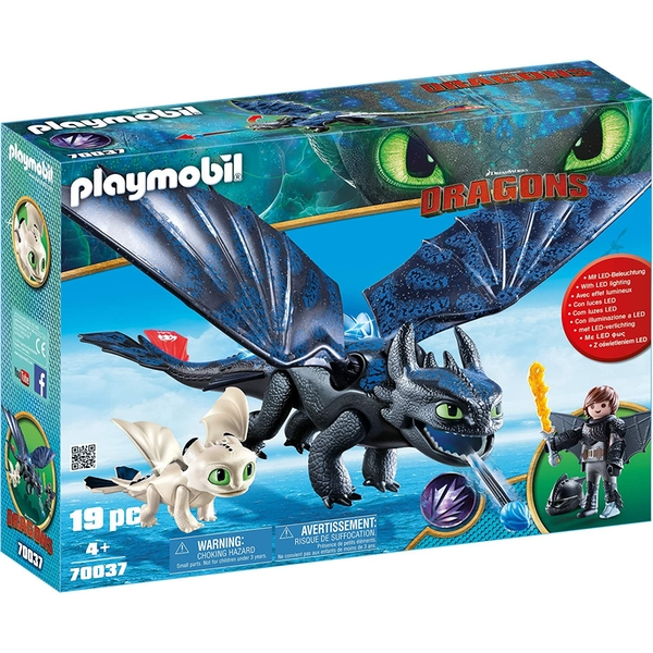 Playmobil How To Train Your Dragon Hiccup and Toothless with Baby Dragon