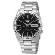 Seiko SNKE01K1 Seiko 5 Mens Automatic Watch Silver with Black Face