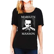 Marilyn Manson - Fists Women's Large Dolman T-Shirt - Black