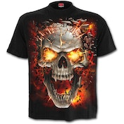 SkullBlast Men's XX-Large T-Shirt - Black