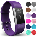 Yousave Fitbit Charge 2 Strap Single (Large) - Plum