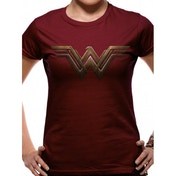 Batman Vs Superman - Wonder Woman Logo Fitted T-shirt Burgundy Small