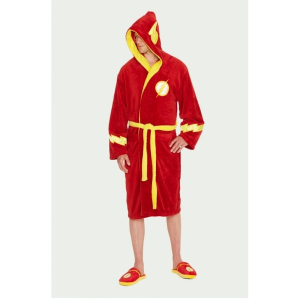 DC Comics The Flash Adult Fleece Bathrobe - Image 1