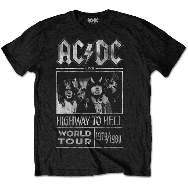 AC/DC - Highway to Hell World Tour 1979/1980 Unisex Large T-Shirt - Black