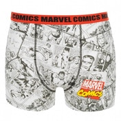 Marvel Comics Red AOP Boxer Medium