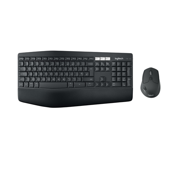 Logitech MK850 RF Wireless Mouse   Bluetooth QWERTY UK Layout Black