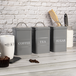 Stainless Steel Tea, Coffee & Sugar Canisters | M&W Grey - Image 8