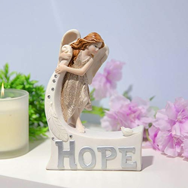 Thoughts Of You Angel Figurine - Hope
