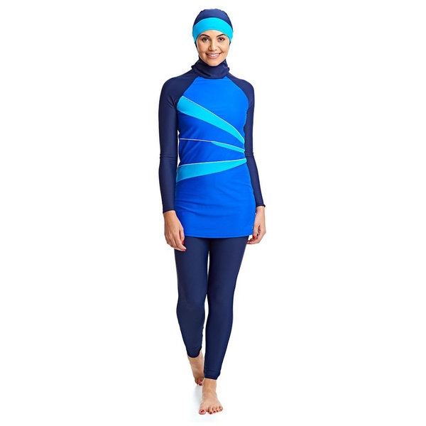Zoggs Hydrolife Aqua Reef Modesty Swimsuit Blue 38""