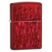 Zipp Iced Flame Design Red Regular Windproof Lighter